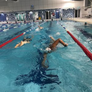 Member swimming at a swim session at Eltham Leisure Centre